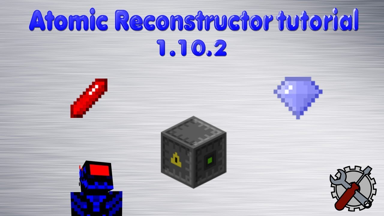 how to use atomic reconstructor minecraft