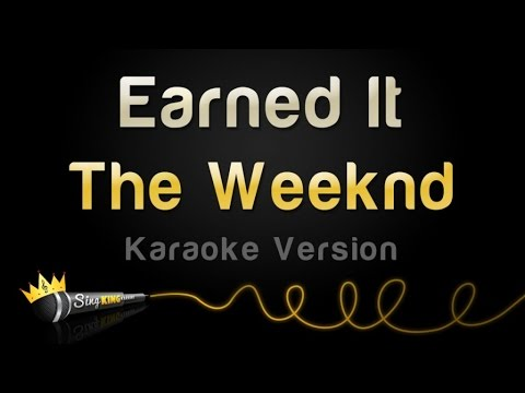 The Weeknd Earned It Karaoke Version Youtube