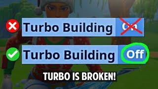Turbo Building Doesn't Work Anymore