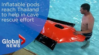 First look at inflatable pods that could be used in Thailand cave rescue
