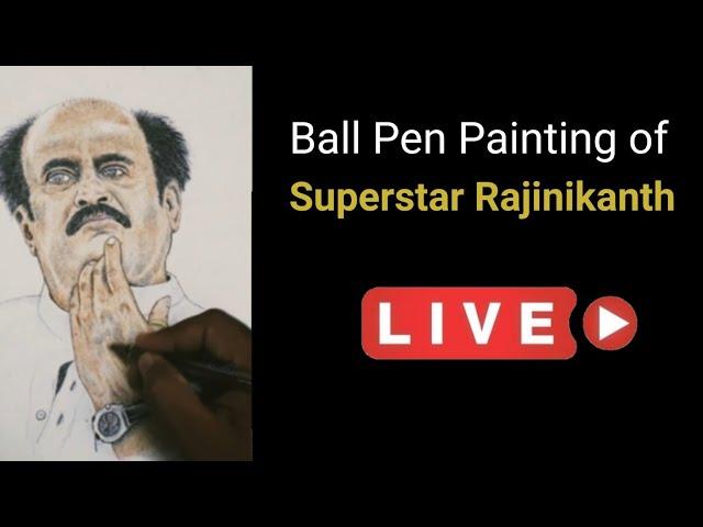 Rajinikanth   Ball Pen Painting by Vishal Garad