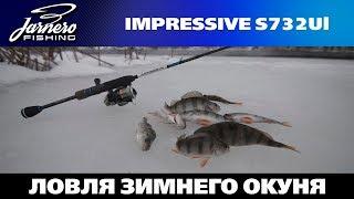 Ловля зимнего окуня спиннингом на реке Оскол.  Zemex  mpressive S732Ul 0.5 6 gr.