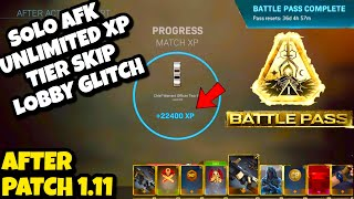 Modern Warfare Glitches: *NEW* Solo AFK UNLIMITED XP TIER SKIP Glitch After Patch 1.11! [PATCHED]
