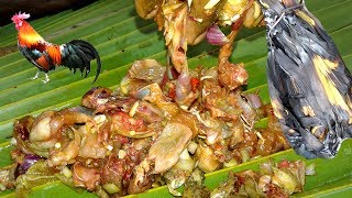Traditional Style Chicken Paturi Using Palm Leaf | Village Food Recipe