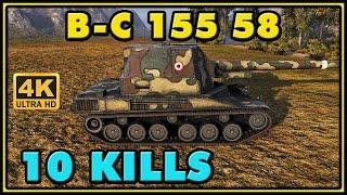 World of Tanks | BatChat 155 58 - 10 Kills - 7.9K Damage