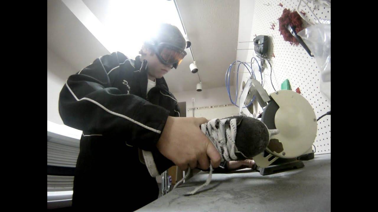 How do you sharpen skates?