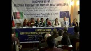 EU : The Afghan presidential elections are generally good and fair
