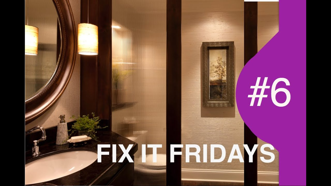 Interior Design | Bathroom | Fix It Fridays 6   YouTube