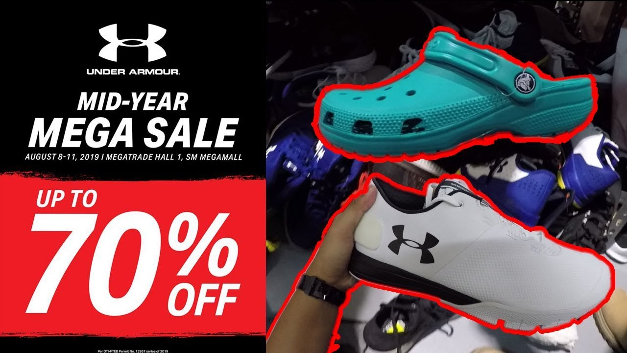 on sale 402a4 46e13 70% OFF UNDER ARMOUR AND CROCS SALE AT MEGATRADE HALL 1
