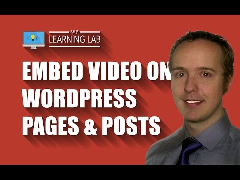 WordPress Video Tutorials to Embed Video in Posts and Pages - WP Learning Lab - 동영상