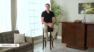 Belham Living Landon Extra Tall Swivel Barstool With Nailheads - Product Review Video