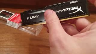 оНЛАЙН ТРЕЙД.РУ  Оперативная память Kingston DDR4 4Gb 2400MHz HyperX FURY Black (HX424C15FB/4)