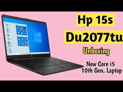 Hp 15s - Du2077Tu Laptop Unboxing | Core i5 10th Gen/4gbRam/256gbSsd+1tbhdd/15.6/Win10+Office