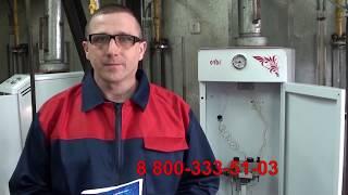 Замена в котле  газового блока на  САБК АТ
