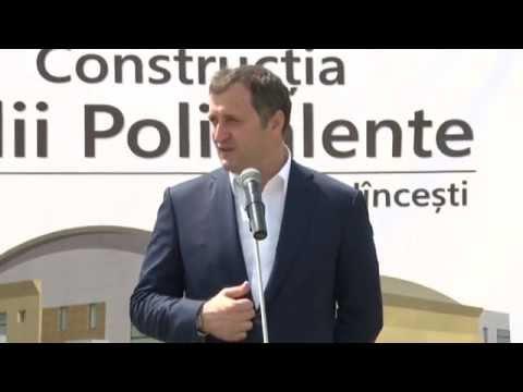 Vlad Filat la Lansarea lucrărilor de construcție a Sălii Polivalente din Hîncești