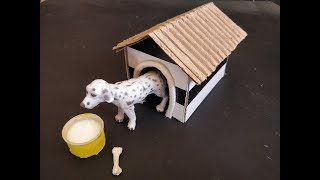 House of Animals | How to make Dog Kennel | Dog House | DIY School Project Videos | Craft Ideas |
