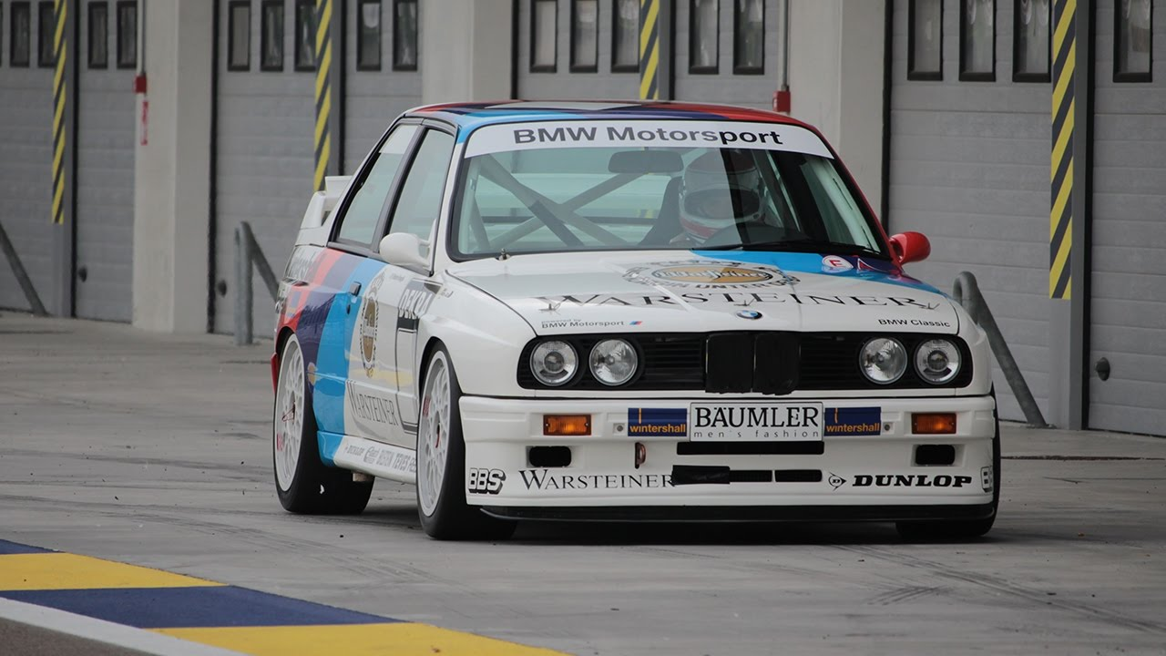 BMW M3 E30 EX-DTM PURE SOUND on Track - 1987 Champion Ravaglia On ...