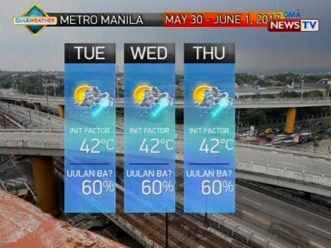 QRT: Weather update as of 5:58 p.m. (May 29, 2017)