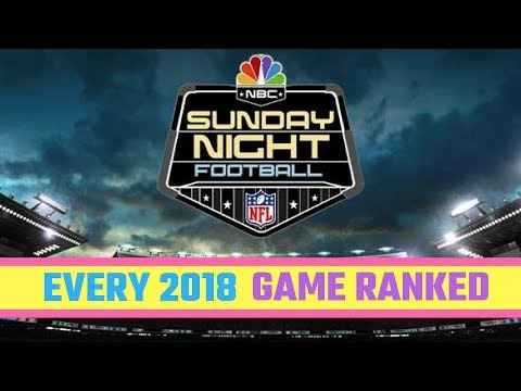 Ranking Every 2018 Sunday Night Football Matchup