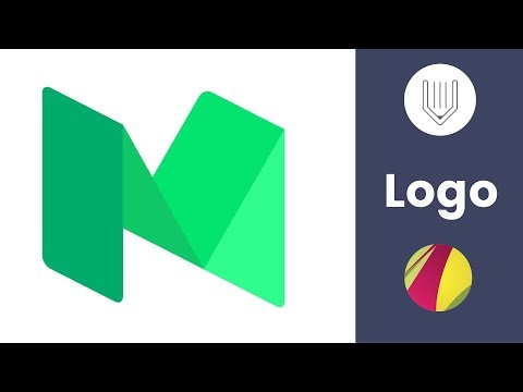 Medium has a new logo. Let's create an old one in the free vector app | Gravit Designer tutorial