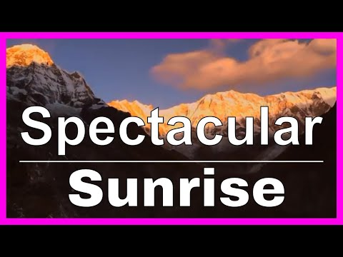 Annapurna Base Camp Sunrise Timelapse in the Himalaya Mountains of Nepal Trekking Documentary Video