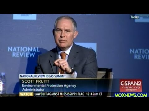 "EPA Head Scott Pruitt ""Many Say You Can't Be Pro-Growth And Pro-Environment! I Reject That!"""