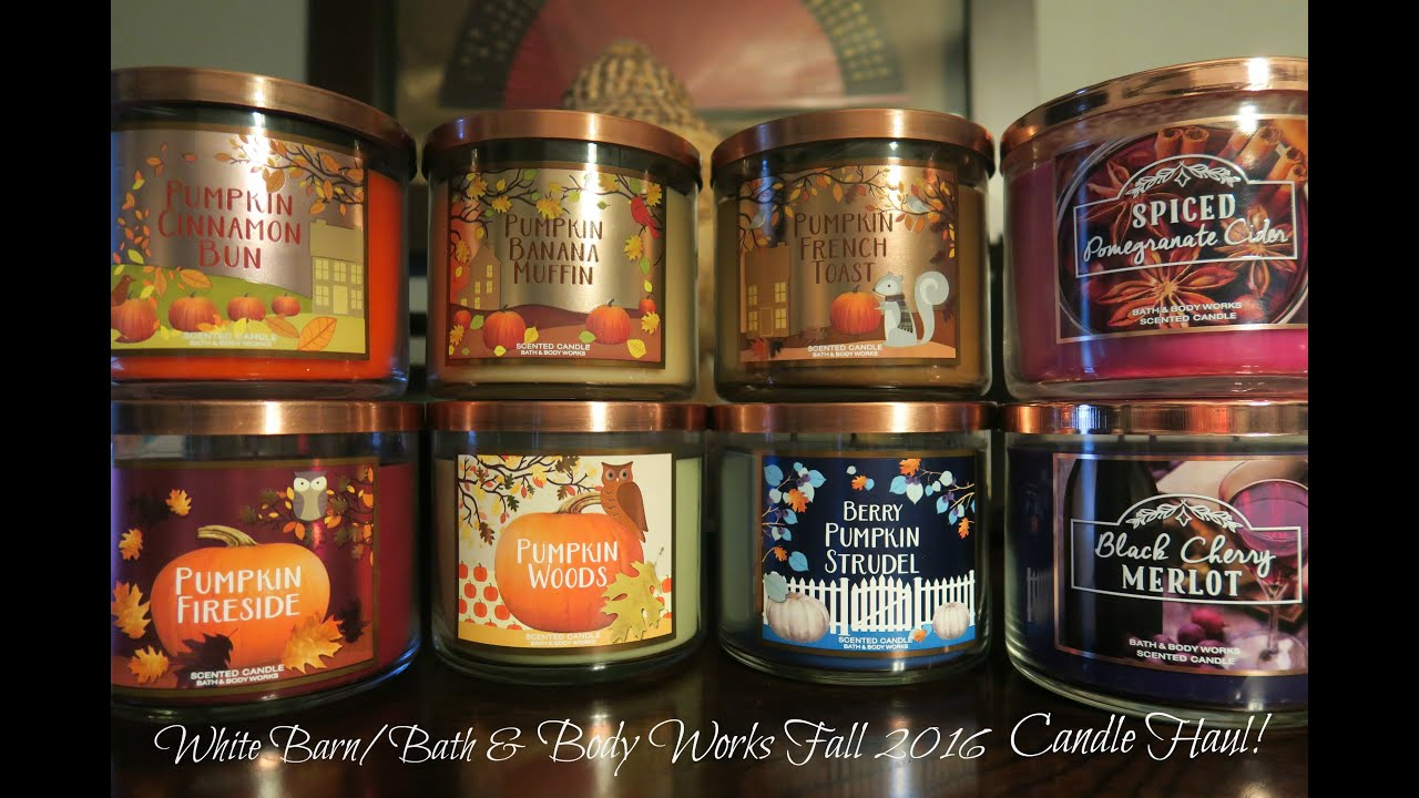 white barn bath body works fall 2016 candle haul youtube. Black Bedroom Furniture Sets. Home Design Ideas