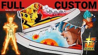 Full Custom | Naruto x Dragon Ball Z Super Converse All Stars by Sierato