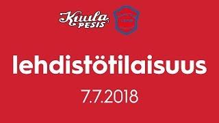 Lehdistötilaisuus: Kuula - Koetus 7.7.2018