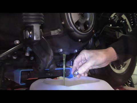 Changing tranny fluid sportster