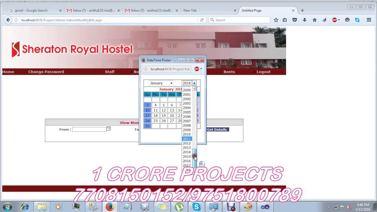 Hostel management system project