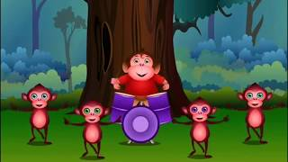 Five Little Monkeys Jumping On The Bed / Super BABY Songs / Nursery Rhymes & Songs for children