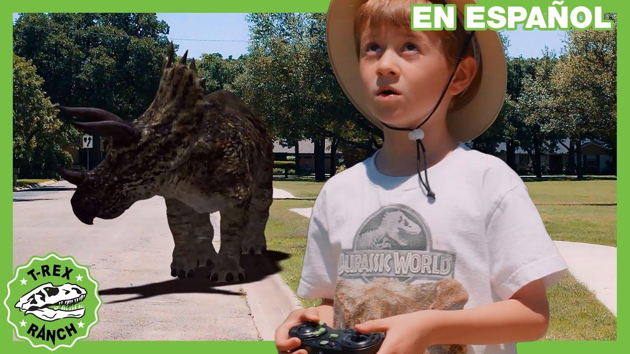 El Dron T-Rex de Dinosaurios con los Rangers del Parque
