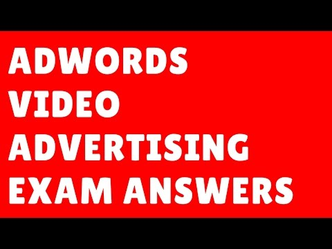 Google AdWords Video Exam Answers 2017 | Adwords Video Advertising Exam | Onlineseotrainer