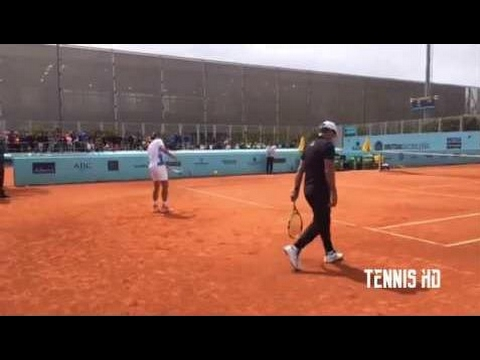 Rafael Nadal Practice Before Match Vs Nick Kyrgios - Madrid 2017