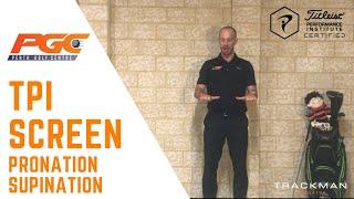 Golf Fitness - TPI Testing Pronation / Supination