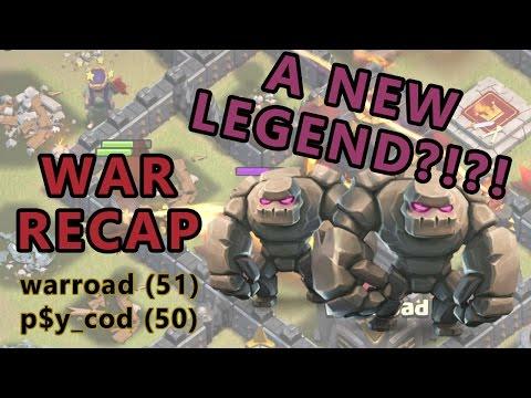 Clash of Clans | The New Legend?!?!|- Hero Golemite | Warroad War Recap #10