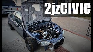 Taking a drive in the 2jz CIVIC!!