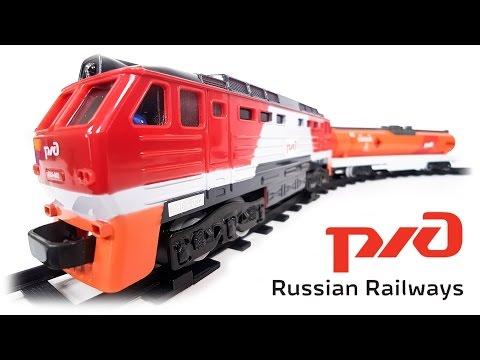 RZD Russian Railways Red Freight Train