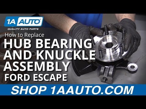 How to Replace Front Hub Bearing and Knuckle Assembly 05-12 Ford Escape