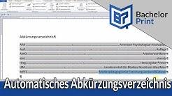 Abkürzungsverzeichnis in Word erstellen ~ SO GEHT'S!
