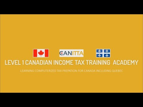 Tax Course for Canadians | Canitta.com
