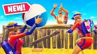 Playing ACTUAL VOLLEYBALL in Fortnite Battle Royale w/ Lachlan, LazarBeam & Alex