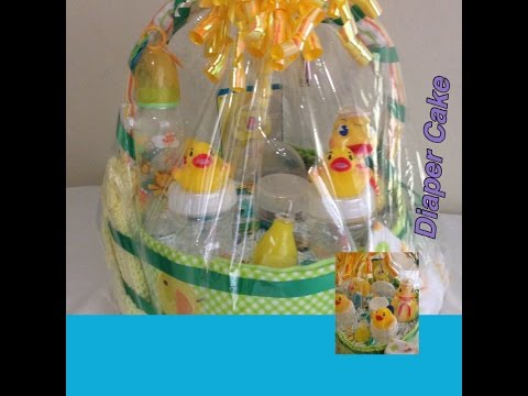 HOW TO MAKE A DIAPER BASKET CAKE - EASTER IDEA - TUTORIAL