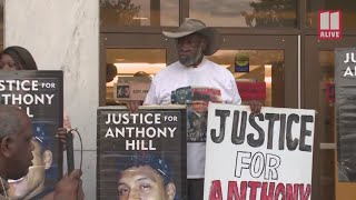 Rally for Anthony Hill after Robert Olsen conviction