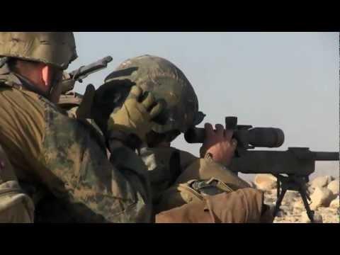U.S. Marine Scout Sniper Team In Sangin, Afghanistan