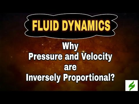 Why PRESSURE is inversely proportional to the VELOCITY of a dynamic fluid? | Physics | zorthus-1