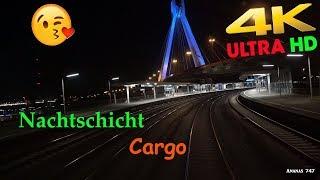 【4K】Traumjob Lokführer Cargo . Nachtschicht Teil 5 . Triebfahrzeugführer bei der Arbeit
