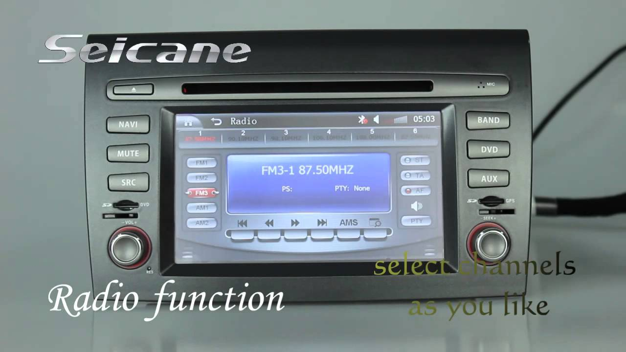 Wince 6 0 Fiat Bravo Car Cd Dvd Player Upgrade With Radio