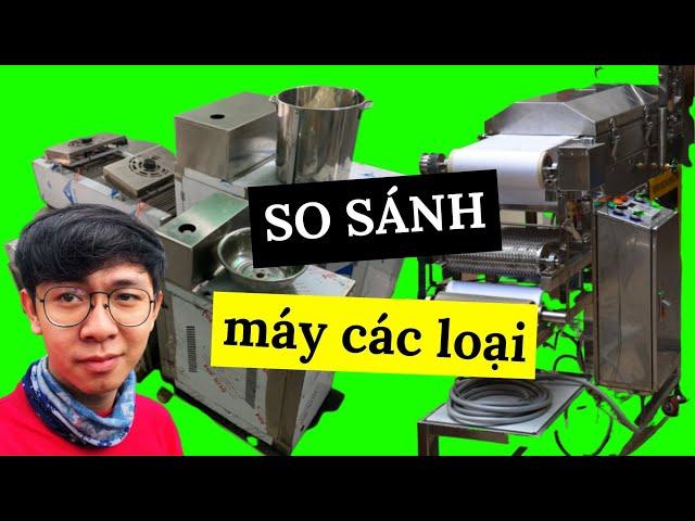 SO SÁNH MÁY LÀM PHỞ TƯƠI MINI VS MÁY LÀM BÁNH PHỞ CÔNG NGHIỆP | Fresh Rice Noodle Machine | TRÙM PHỞ